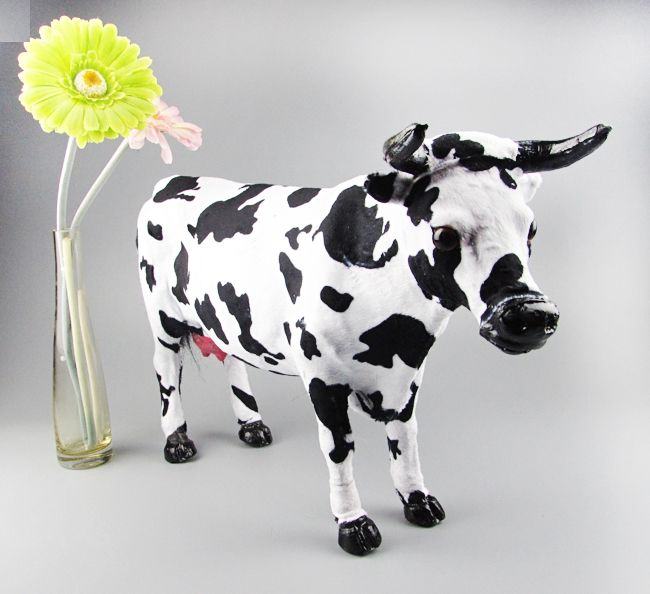 46.11$  Know more - http://aifqu.worlditems.win/all/product.php?id=32728344864 - large 53x30cm simualtion cow toy model plastic& furs dairy cow hard model home decoration Xmas gift w5776