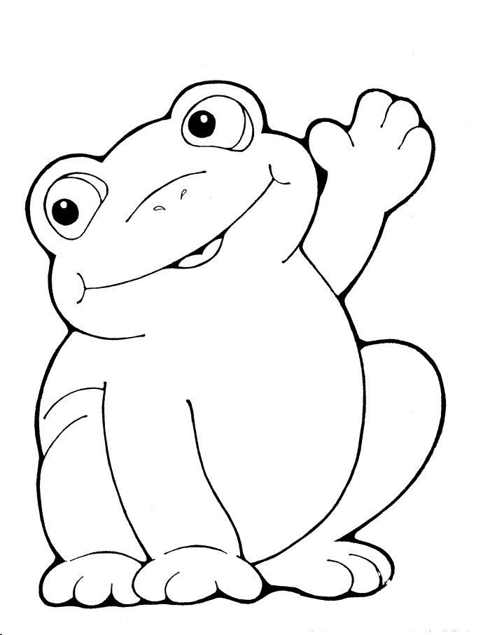 frog onesie or burp cloth decorating template cartoon frog coloring pages