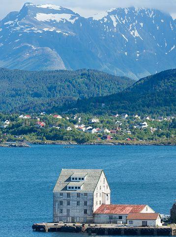 House in Alesund Harbour, Norway