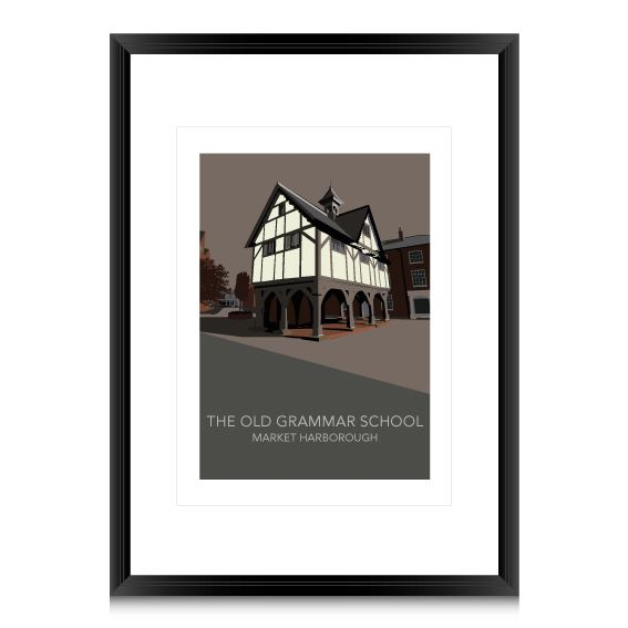 My first venture into selling my own artwork. This is a Tudor building in my home town - Market Harborough - The Old Grammar School. The town in in Leicestershire in the UK.