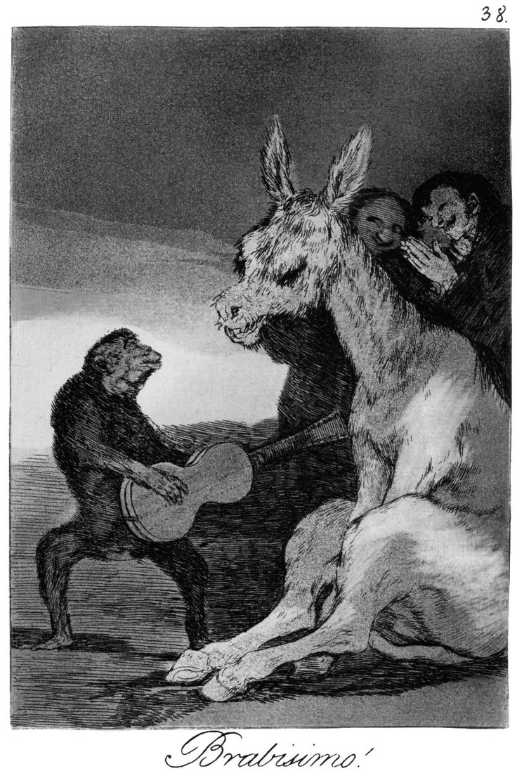 Francisco Goya, Bravo!, Los Caprichos no. 38 We have a few Goya prints but not this one. S