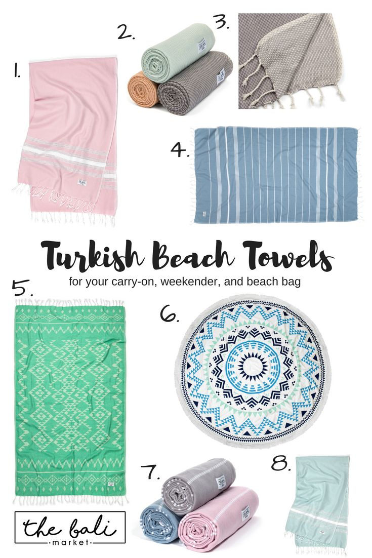 Turkish Beach Towels // A must for your next weekend trip or exotic tropical getaway // Love these for honeymoons // Helps you pack light in your carry-on // It's what to pack for your tropical vacation.