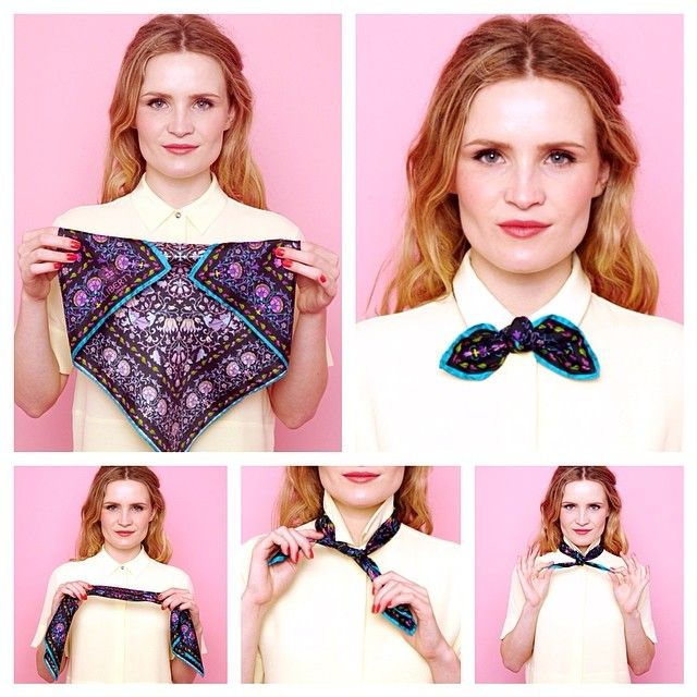 Learn how to make a pretty bow tie with a 45 x 45 #LibertyLondon scarf by…