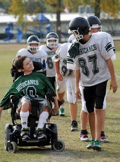 An interview with the teen with cerebral palsy who scored a football touchdown...pure inspiration!