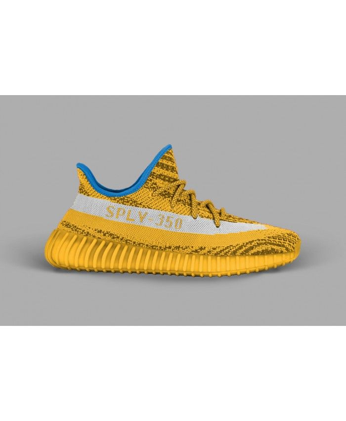 32364c09a3a29 Adidas Yeezy Boost 350 V2 Blue White Yellow NBA Trainer UK Sale ...