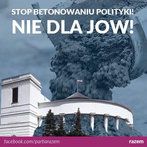 """Senat wyraził zgodę na zorganizowanie 6 września referendum w sprawie jednomandatowych okręgów wyborczych. To dobry moment, żeby przedstawić stanowisko kongresowe Razem stanowczo sprzeciwiające się idei JOW-ów. """"Partia Razem zdecydowanie dystansuje się od propozycji wprowadzenia jednomandatowych okręgów wyborczych w wyborach do Sejmu. Doświadczenia innych krajów jednoznacznie pokazują, że JOW-y nie przyczyniają się do osłabienia pozycji wielkich i zasobnych partii. Przeciwnie, często…"""