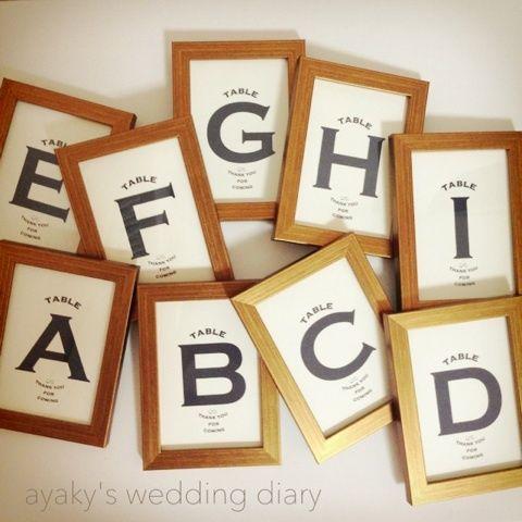 【DIY】テーブルナンバー の画像|ayaky's wedding diary♡