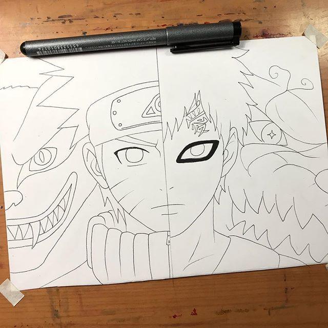 Naruto Vs Gaara Desenhos Para Colorir Naruto Desenho De Anime Naruto Desenho