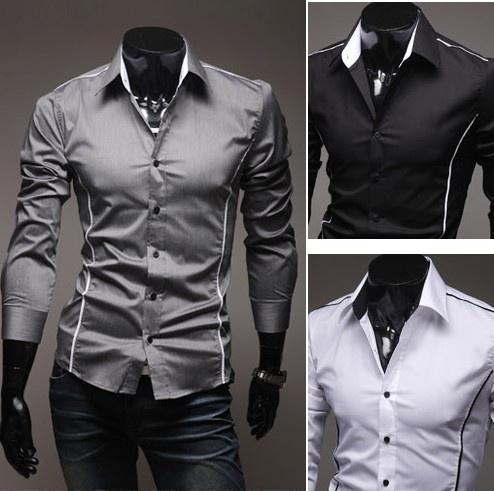 Mens Luxury Casual Slim Fit Stylish Dress Shirts