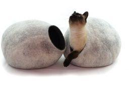 Prodej domečků a pelíšků pro kočky - Designové, ručně dělané kočičí domečky