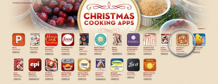 The Spoon selected by Apple – Best Christmas Cooking Apps   The Spoon