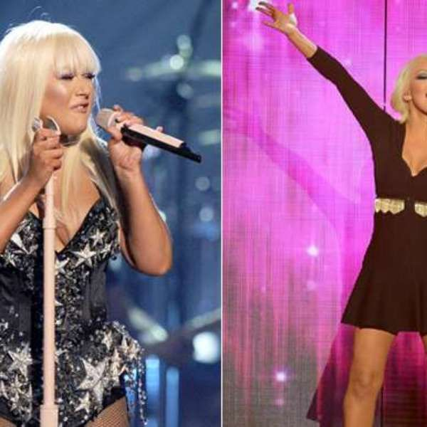 CRISTINA AGUILERA #FAMOSAS #TRANSFORMACION #BIGSIZE #SMALLSIZE #BEFORE #NOW #THEN #NOW #GORDAS  #FLACAS