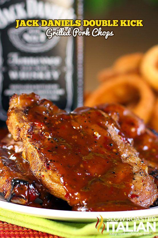 Jack Daniels Double Kick Pork Chops