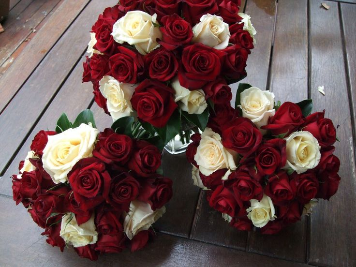 Aren't these creamy white and red roses stunning!  What a combination
