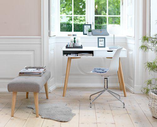 TAMHOLT бюро с 1 чекмедже, бяло/дъб
