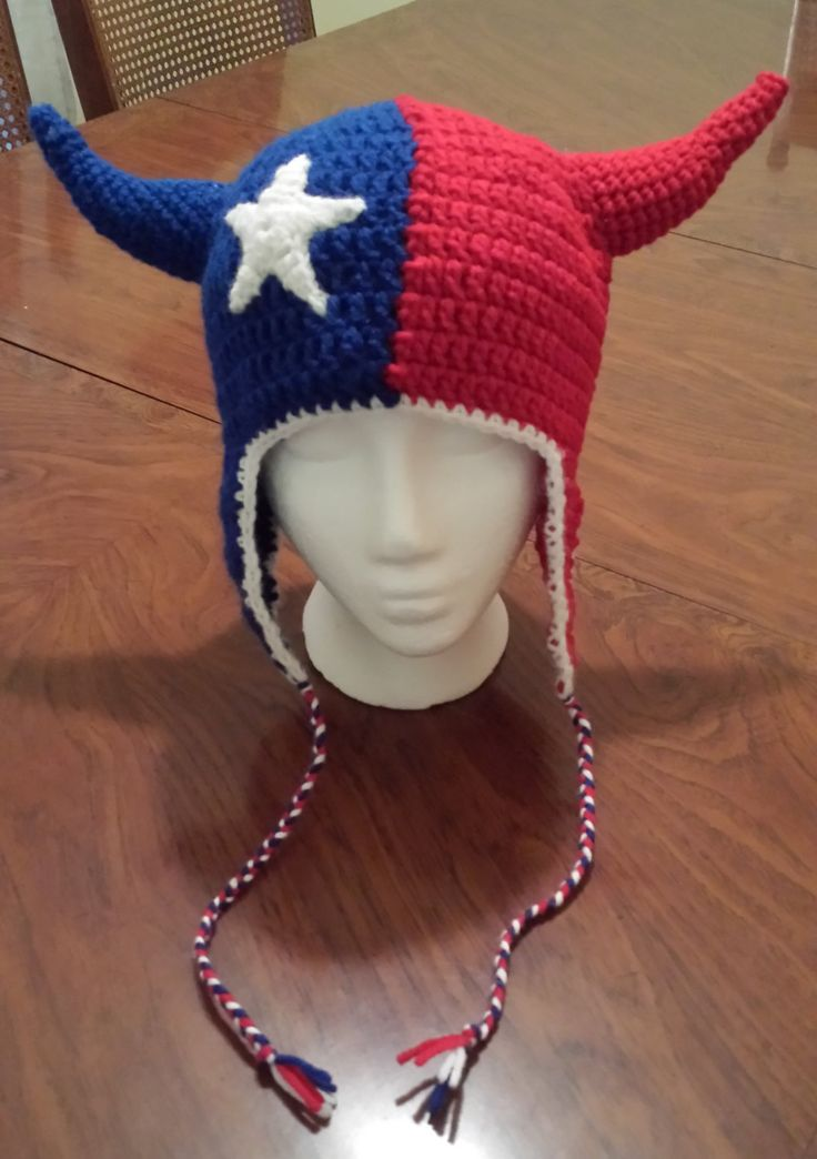 Houston Texans crochet hat pattern (adult size) - pinned by pin4etsy.com