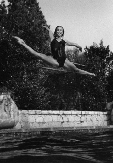 A young Sylvie Guillem