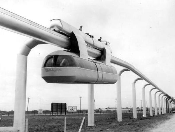 Skyway monorail, Houston, 1956