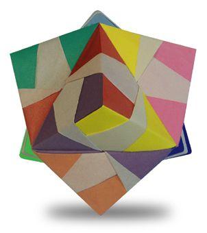 Origami Transformation Trisoctahedron instruction