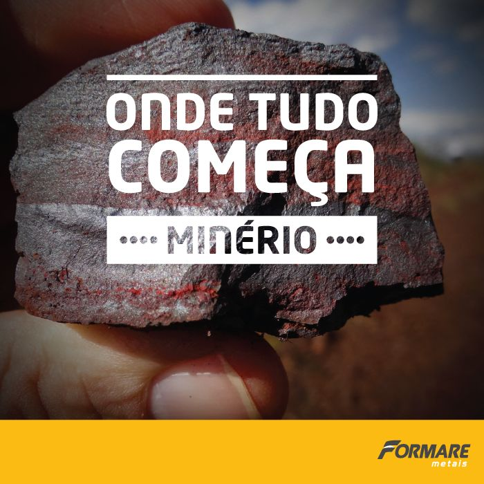 O aço é a nossa matéria prima, mas tudo começa com o minério de ferro. 👉 Minério é transformado em aço 👉 O aço é transformado em telha. Após a produção e tratamento das chapas de metais, elas chegam na nossa fábrica para serem transformados em telhas, tapumes e nossas cumeeiras ;) #FormareMetais #Minério #Metal #Telha #Cumeira #Tapume #Cobertura #Obras #MinasGerais