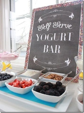 Yogurt Brunch Bar // fill with lots of healthy and fresh toppings, great way to start the new year #healthy #clean #party