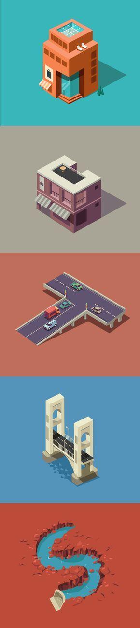 Illustratie - Isometrie - [stap: #1 Google 'isometric grid', #2: open in Illustrator, #3: tekenen]