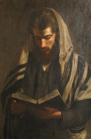 Continental School,  Early 20th Century Portrait of a Rabbi.