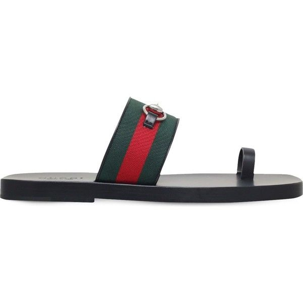 732eeba82fe GUCCI Horsebit web leather sandals (52255 DZD) ❤ liked on Polyvore  featuring men s fashion