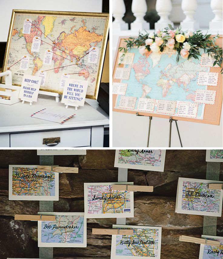 The detailed and eloquent design of a map can add the perfect details to your wedding. Ideal for the couple who is wanderlust and craving adventure. We love the idea of using a globe for your guestbook. It will be a great reminder of your big day in your home office or entry table.Source1 Source2…