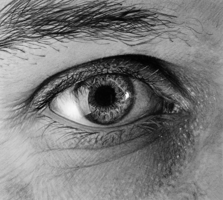 An eye drawing for a contest
