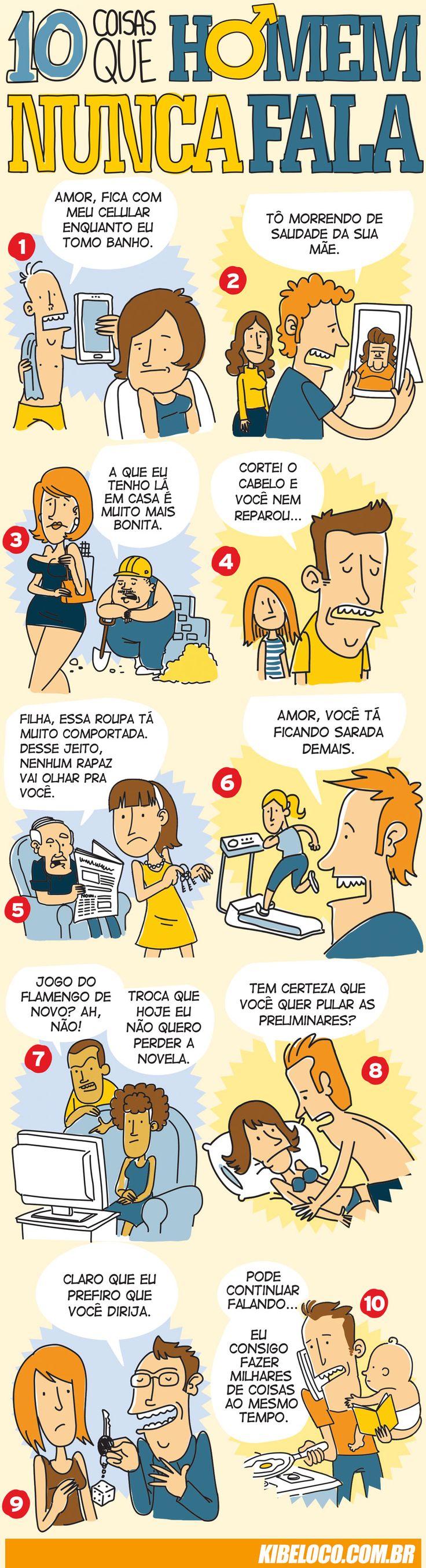 10 coisas que um homem nunca falaria
