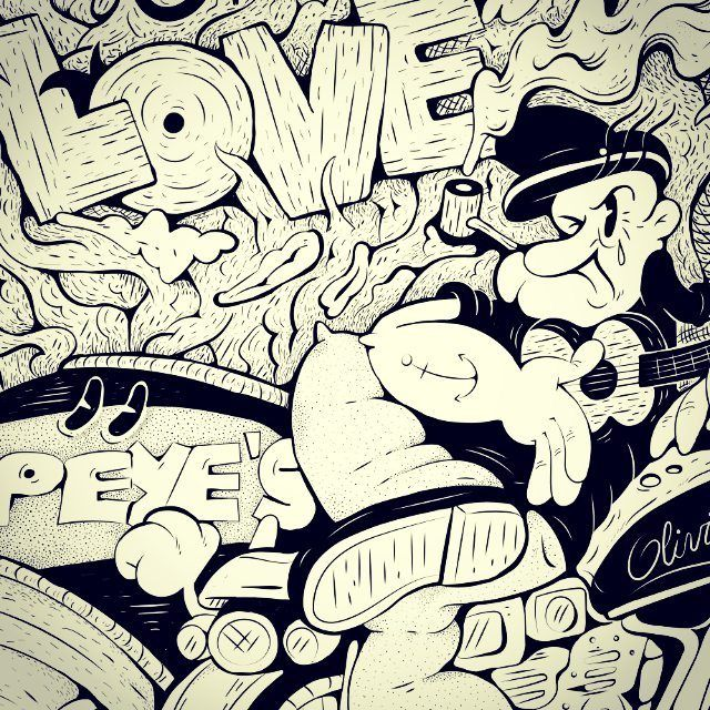 #popeye #love #draw #paint #blackandwhite #cartoon #art #illustrator #vectorart #ukelele #bike #smoke #toon #oldies #style #sharpie #doodle #sad #instagood #happy #picoftheday #fun #smile #amazing #food #pretty #cool #baby #nice #instago