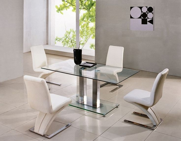 Small Rectangular Glass Dining Table Part - 39: SAVIO SMALL RECTANGULAR GLASS CHROME DINING TABLE ONLY-4 COLOURS- 120 Cm -  IJ895