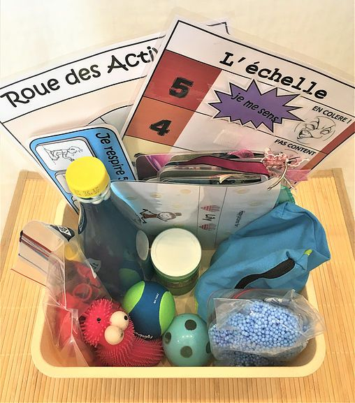 A child subject to strong emotion can, thanks to the tools contained in this box, learn to channel gradually his anger and / or his tear …