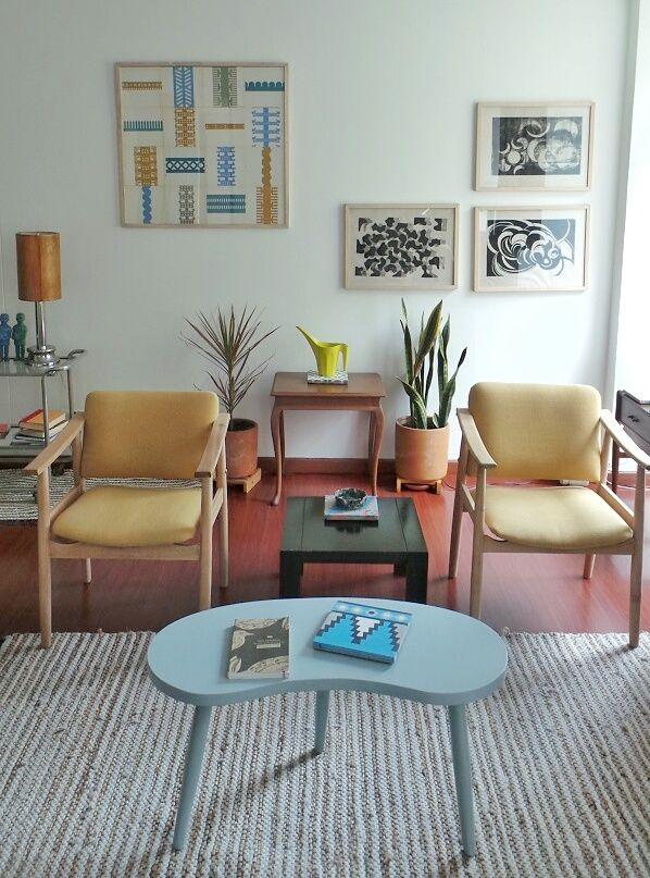 Check out this cool apartment in Bogota, Colombia and how I'll implement some of it's features in my home. Post-modern, Bauhaus | The Good Hacienda | curated by Hilary