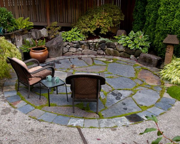 25 best slate patio ideas on pinterest paving stone patio outdoor patio flooring ideas and patio ideas country - Small Backyard Patio Ideas
