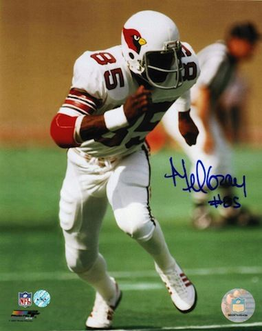 Autographed Mel Gray St. Louis Cardinals (Football) 8x10 Photo.