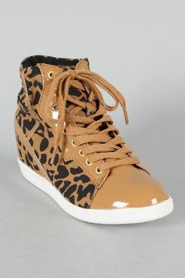 Qupid Patrol-29 Cheetah Print Womens Wedge Sneaker TAN - Price:	$32.00 - $39.99 [][][] Details At: - http://shoes-to-go.osx128.com/qupid-patrol-29-cheetah-print-womens-wedge-sneaker-tan/ [][][]