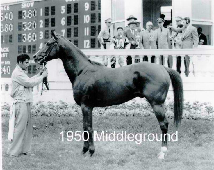 Middleground. 1950 Kentucky Derby winner. Jockey: William Boland. Winning time: 2:01 3/5