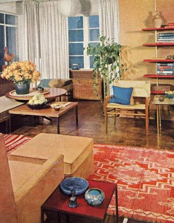 1961 living room