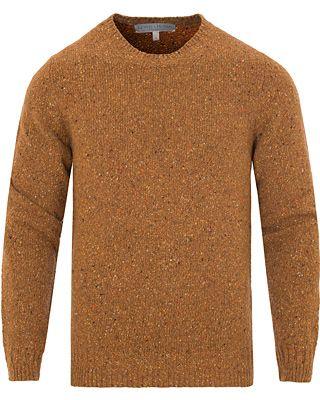 Gieves & Hawkes Donegal Crew Neck Sweater Gold i gruppen Tröjor / Stickade Tröjor hos Care of Carl (13090811r)