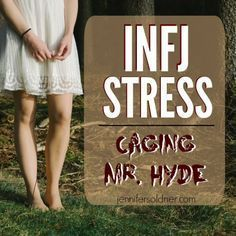 Chronic or overwhelming stress has a weird way of impacting the INFJ. It can easily morph us into the exact opposite of who we really are. We stop imagining future possibilities and start living for the moment. Our senses take over, and we indulge in them. Excessively.