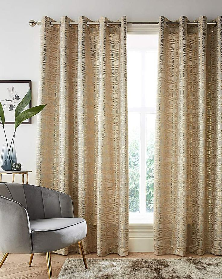 Jd Williams Broadway Metallic Eyelet Curtain Gold In 2021 Blackout Eyelet Curtains Home Curtains