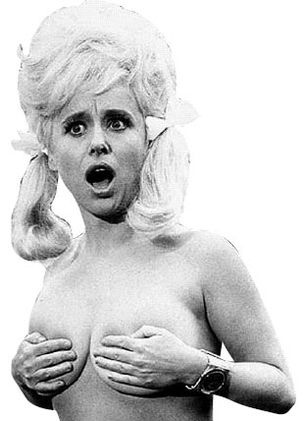 Barbara Windsor in Carry On Camping. Oh Babs, you're so fab(s)!