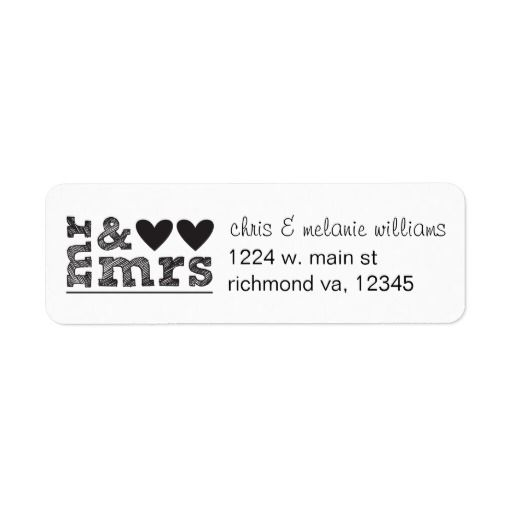 Best Return Address Labels Images On   Return