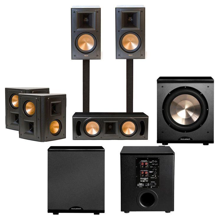 klipsch surround sound speakers. turn a tv room into home theater with klipsch 5.1 surround sound speakers. speakers