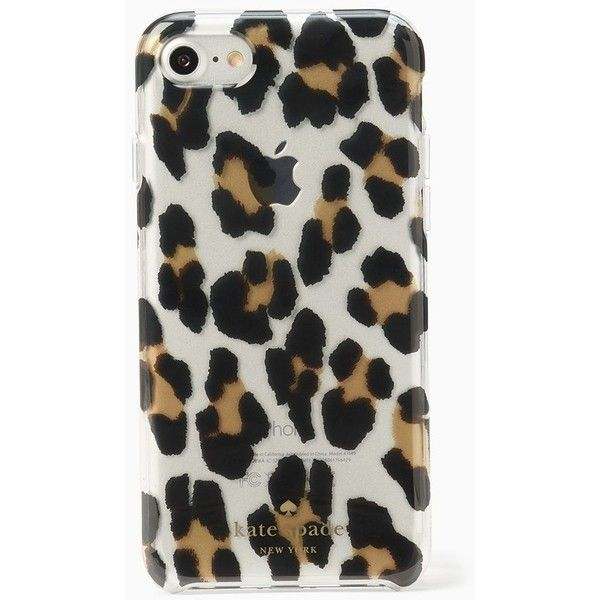 Kate Spade Leopard Iphone 7 Case ($40) ❤ liked on Polyvore featuring home, home decor, kate spade, leopard home decor, whimsical home decor, kate spade home decor and leopard home accessories
