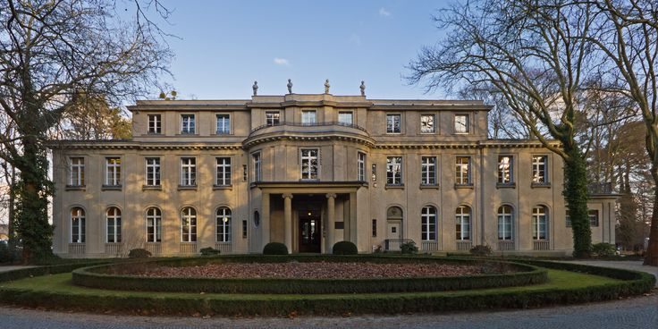 The villa at 56–58 Am Großen Wannsee, where the Wannsee Conference was held, is now a memorial and museum. >>> The original owner had made his fortune in toothpaste.