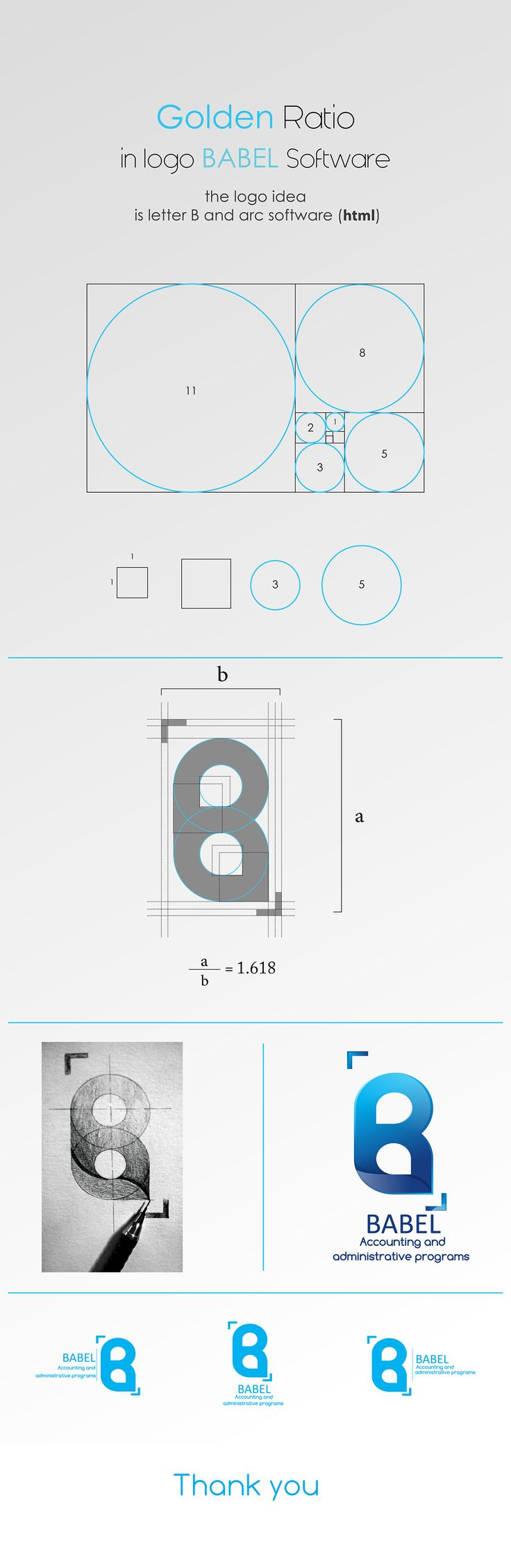 Poster design golden ratio - Attempt To Apply Golden Ratio In Logo Babel