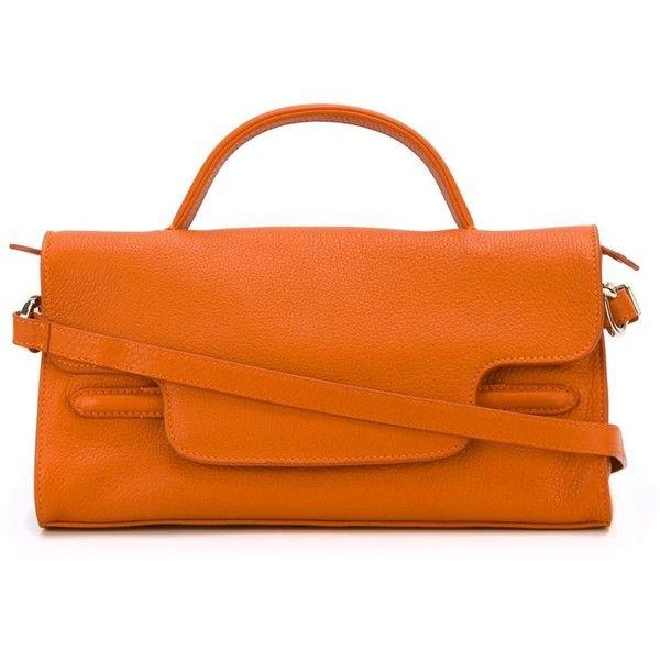 Zanellato Small Nina Tote featuring polyvore women's fashion bags handbags tote bags orange tote bag orange leather tote handbags totes leather tote bags orange leather handbag